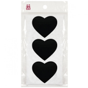Wrapables Set of 30 Chalkboard Labels / Chalkboard Stickers for Organising, Labelling, Gift Tags, Drink / Wine Markers, and Weddings, 7.6cm x 5.7cm Heart