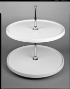 Rev-A-Shelf 6012-18-11-52 46cm Full Circle Lazy Susan 2-Shelf Set, White