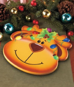 Reindeer Holiday Lazy Susan