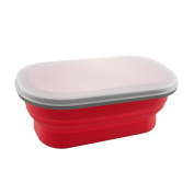 Swissmar Pop N Go Collapsible Silicone Snack, Lunch and Meal Box
