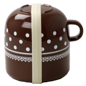 cheri cup with lunch box brown 14405