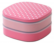 cheri picnic lunch box (with four two-stage core nest of boxes) Pink 14305