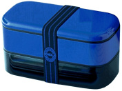 DELI painted two-stage lunch box 1000ml navy 70312