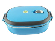 Insulated Stainless Steel Sealed Bento Box Students Creative Lunch Box Blue