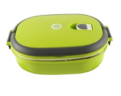 Insulated Stainless Steel Sealed Bento Box Students Creative Lunch Box Green