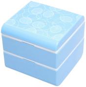 Masakazu [lunch box] wamoyou conformal bunk lunch Bubbles Blue