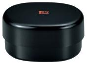 Masakazu [two-stage lunch box] BlackStyle Oval compact lunch Matt Black 77319