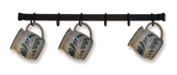Wrought Iron 6 Cup Rack Wall Mount