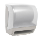 INSPIRE Electronic Hands Free Roll Towel Dispenser - White Translucent