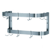 Whitehaus CUSW36WHX-SASS Culinary Equipment 90cm Stainless Steel Wall Mounted Pot Rack, Satin Stainless Steel