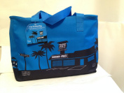 Trader Joe's Blue Insulated Tote / Reusable Grocery Bag Extra Large