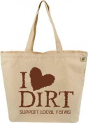 ECOBAGS Farmers Market Tote - I Love Dirt - 1 Bag