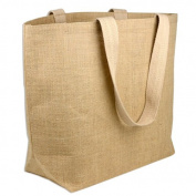 Eco-friendly Burlap Jute Tote Beach Shopping Bag Natural Colour