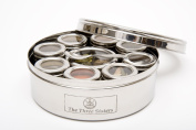 The Three Sisters Authentic Stainless Steel Masala Dabba Spice Box