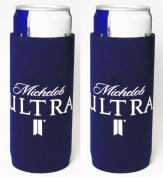 Michelob Ultra Slim Can Licenced Beer Koozie Holder Huggie 2-Pack
