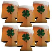 St. Patrick's Day Koozie - Set of 12 - Beer of Mug with Clover Design