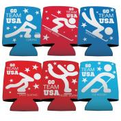 Winter Olympics - Team USA - Koozie Set of 6