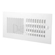 Hart Cooley 682 10x 4 W HVAC Register, 25cm W x 10cm H, TwoWay Steel for Sidewall/Ceiling White