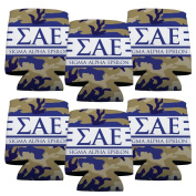 Sigma Alpha Epsilon Koozie Set of 6 - Army Camo Pattern