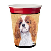 Cavalier Spaniel Red Solo Cup Hugger