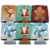 Christmas Characters Koozie Set of 6