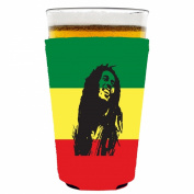 Coolie Junction Reggae Bob Pint Glass Coolie