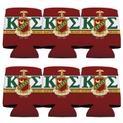 Kappa Sigma Koozie Set of 6 - KA and Shield Design