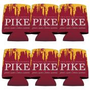 Pi Kappa Alpha Koozie Set of 6 - Grunge Design