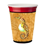 Seahorse Male on gold Red Solo Cup Hugger