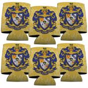Sigma Alpha Epsilon Koozie Set of 6 - Coat of Arms Design