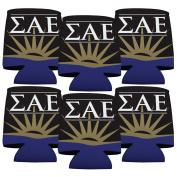 Sigma Alpha Epsilon Koozie Set of 6 - Fraternity Logo Design