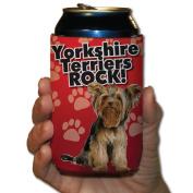 Yorkshire Terriers Rock! Koozie set of 6