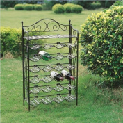MANDALAY IRON 24 BOTTLE WINE RACK in a BRONZE FINISH - PATIO FURNITURE
