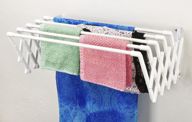 Expandable Wall Mountable Clothes Drying Rack By Drying