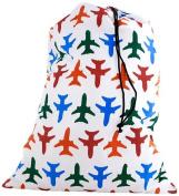 Kikkerland Travel-Size Laundry Bag, Aeroplanes