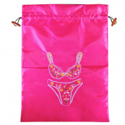 "Wrapables Silk Embroidered ""Bra & Panties"" Lingerie Bag"