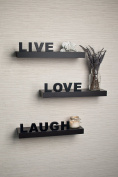 Laminate 'Live, Love, Laugh' Inspirational Wall Shelves