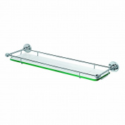 Gatco 1465 Premier Tempered Glass Shelf, Chrome