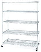Seville Classics 5-Shelf Shelving System with Casters/Wheels