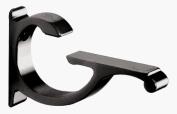 CRL Black Designer Aluminium Glass Shelf Bracket - 1cm - 1.3cm Glass - Package