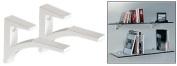 C.R. LAURENCE SC5W CRL White - Aluminium Shelf Bracket for 1cm - 1.3cm Glass