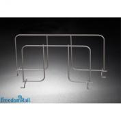 Organised Living freedomRail Shelf Divider for freedomRail Ventilated Shelves, 30cm - Nickel
