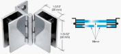 CRL Frameless Set Screw Triple Mirror Hinge - Package