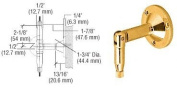 CRL Gold Plated Hanger Pipe Base Fittings for the Cable Display System by CR Laurence