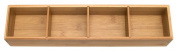 Lipper International Bamboo Drawer Organiser with 3 Removable Dividers, Brown 8884