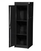 International VRS-5600BK 38cm by 60cm Full Locker Side Cabinet with 2 Fixed Shelves