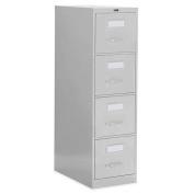Global Office 60cm 4 Drawer Vertical Metal File Storage Cabinet - Light Grey