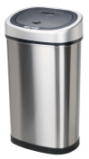 Nine Stars DZT-50-9 Infrared Touchless Stainless Steel Trash Can, 50l