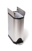 simplehuman Butterfly Step Trash Can, Fingerprint-Proof Brushed Stainless Steel, 45 Litres /12.5 Gallons