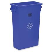 Genuine Joe GJO57258 Recycling Rectangular Container, 87.1l Capacity, 60cm - 1.3cm Width x 80cm Height x 28cm Depth, Blue